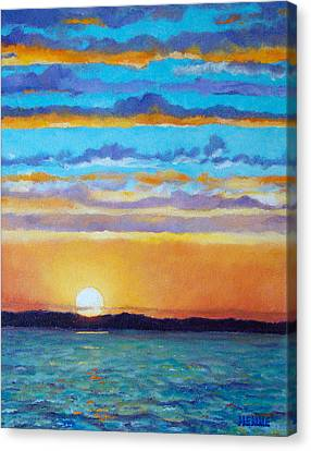 Bay Sunset Canvas Print by Robert Henne