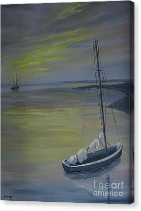 Bayside Boat Canvas Print