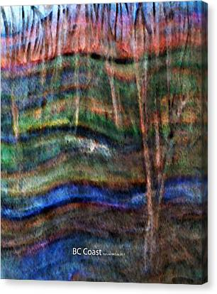 Bc Coast Canvas Print by AnneLise McCoy