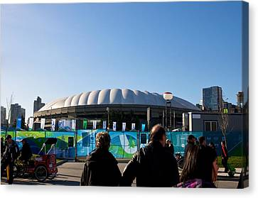 Canvas Print featuring the photograph Bc Place by JM Photography