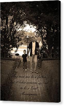 Be A Dad Canvas Print by Kelly Hazel