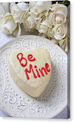 Be Mine Heart Cake Canvas Print by Garry Gay