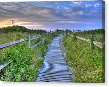 Beach Access Canvas Print by John Loreaux