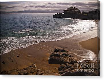 Beach At Monteray Bay Canvas Print