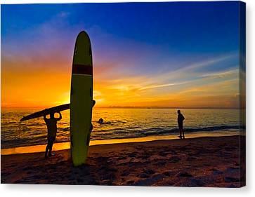 Beach Boys Canvas Print by Debra and Dave Vanderlaan
