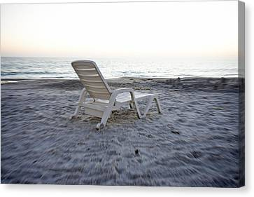 Beach Chair Canvas Print by Betsy Knapp
