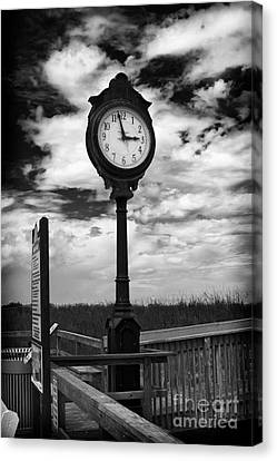 Beach Clock Canvas Print by Thanh Tran