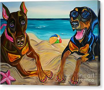 Beach Dawgs Canvas Print