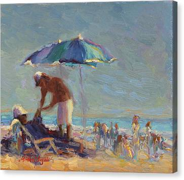 Beach Day Canvas Print by Michael Besoli
