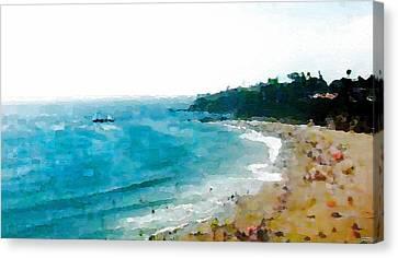 Beach Day Canvas Print by Paula Greenlee