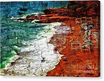 Beach Fantasy Canvas Print by Madeline Ellis