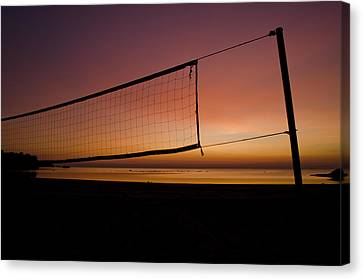 Canvas Print featuring the photograph Beach Games by Jason Naudi Photography