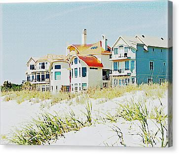 Beach House Canvas Print by Carol  Bradley