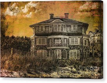 Beach House Postcard Canvas Print