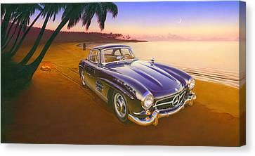 Beach Mercedes Canvas Print by Andrew Farley