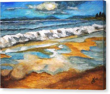 Beach Reflection Canvas Print by Kim Selig
