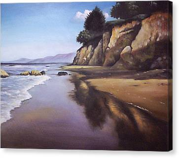 Beach Scene Canvas Print by Mike Worthen