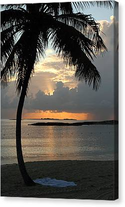 Canvas Print featuring the photograph Beach Sunset by Coby Cooper