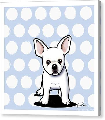 Beachy In Blue Bulldog Canvas Print by Kim Niles