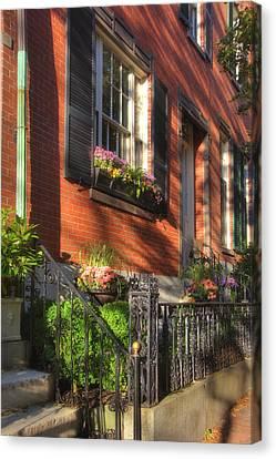 Beacon Hill Sidewalks Canvas Print by Joann Vitali