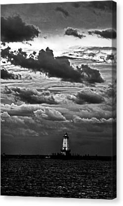Beacon In The Clouds Canvas Print by Randall  Cogle