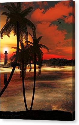Beacon Of Light Canvas Print by Lourry Legarde