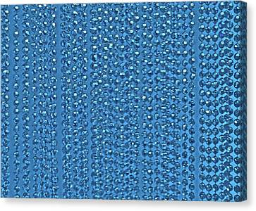 Beaded Blue Canvas Print by James Mancini Heath