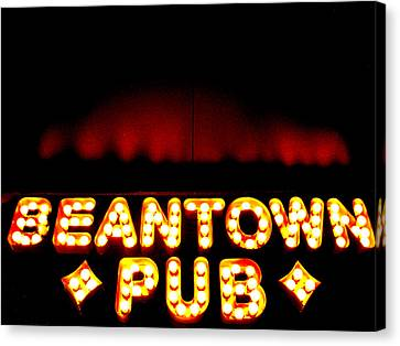 Beantown Pub Canvas Print by Sheryl Burns