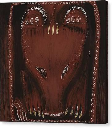 Bear Canvas Print by Sophy White