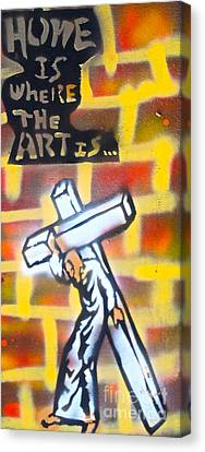 First Amendment Canvas Print - Bearing The Cross by Tony B Conscious