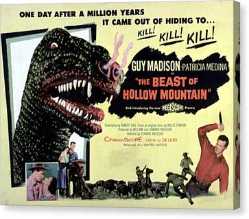 1956 Movies Canvas Print - Beast Of Hollow Mountain, 1956 by Everett
