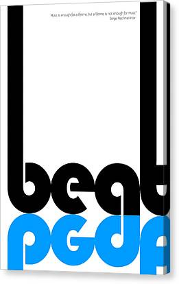 Beat Poster Canvas Print by Naxart Studio