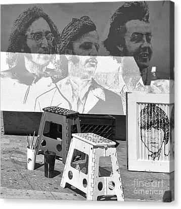 Beach Hop Canvas Print - Beatles II by Chuck Kuhn