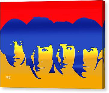 Beatles Pop Canvas Print by Carvil