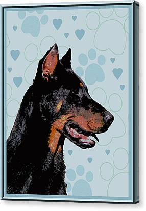 Beauceron Canvas Print by One Rude Dawg Orcutt
