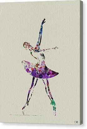Beautiful Ballerina Canvas Print by Naxart Studio