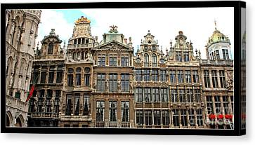 Beautiful Belgian Buildings - Digital Art Canvas Print by Carol Groenen
