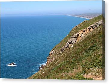 Beautiful Coastline Of Point Reyes California . 7d16017 Canvas Print by Wingsdomain Art and Photography