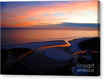 Canvas Print featuring the photograph Beautiful End by Linda Mesibov