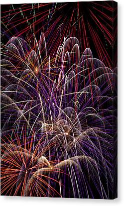 Beautiful Fireworks Canvas Print by Garry Gay