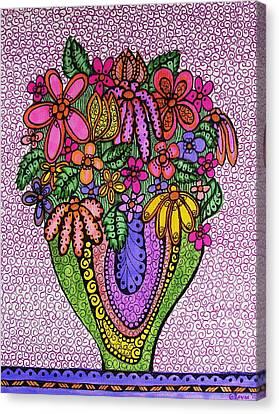Beautiful Floral Imagination  Canvas Print by Gerri Rowan