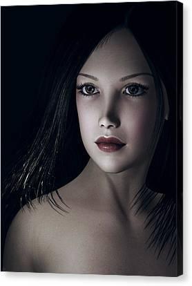 Canvas Print featuring the digital art Beautiful Portrait by Maynard Ellis