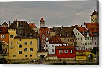 Canvas Print featuring the photograph Beautiful Regensburg by Kirsten Giving