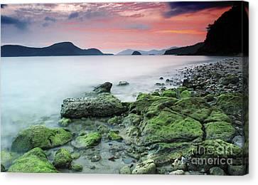 Beautiful Rocky Coastal Sunset  Canvas Print