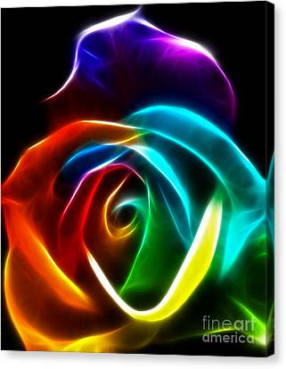 Beautiful Rose Of Colors No3 Canvas Print by Pamela Johnson