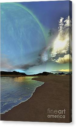 Beautiful Skies Shine Down On This Canvas Print by Corey Ford