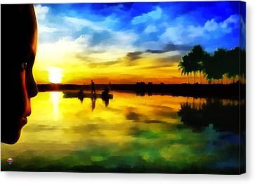 Beautiful Sunset Canvas Print by Vidka Art