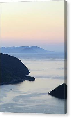 Beautiful View Of Sunset At Maurizia Canvas Print by Naoto Shibata