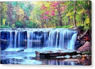 Beautiful Water Fall Canvas Print by Walter Colvin