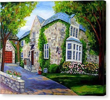 Beautiful Westmount Home Canvas Print by Carole Spandau